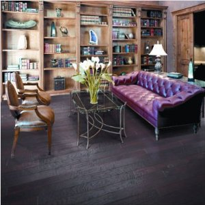 "Hickory Forge 5"" Engineered Handscraped Flooring"