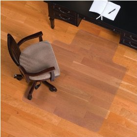 "Standard 36"" x 48"" Chair Mat with Lip for Hardwood"