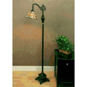 Somerset Tiffany Style Bridge Floor Lamp- Bronze